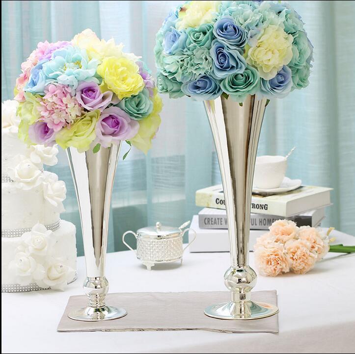 metal de la manera florero de mesa decoracin florero hogar jarrn decorativo flores coronas de plata