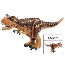 Single Sale Jurassic World Fallen Kingdom Carnotaurus & Interbreed Velociraptor Movie Building Blocks Toys For Children