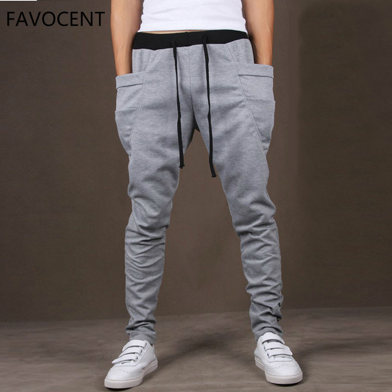 Men Pants Outwear Sporting-Trousers Big-Pocket Quality Male Fashion Casual Hip-Hop Gyms
