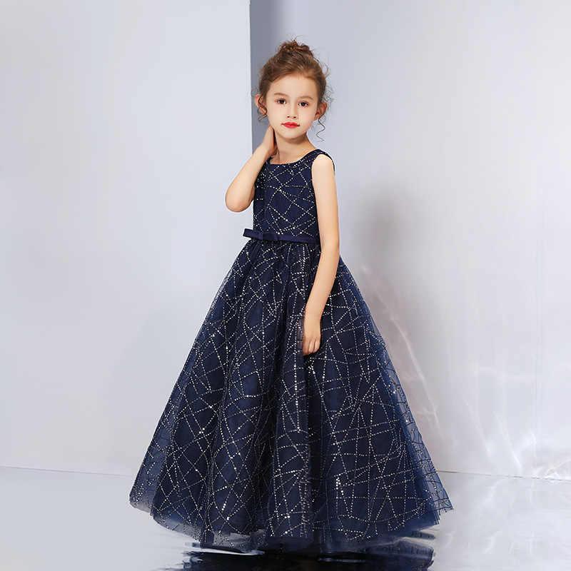 Vestido de princesa elegante vestido de fiesta de noche para niños y mamá vestidos de verano para niñas traje de flores para niñas vestido de novia