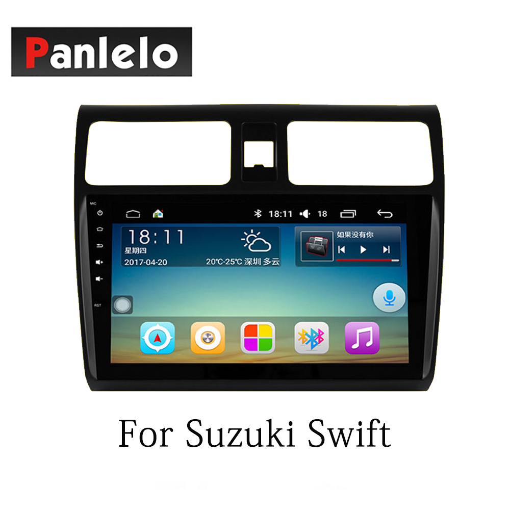 Image 2 - Panlelo Car Stereo Android7.1 For Suzuki SX4 Alivio Swift Vitara 2 Din Auto Radio AM/FM GPS Navigation BT Steering Wheel Control-in Car Multimedia Player from Automobiles & Motorcycles
