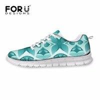 FORUDESIGNS Women Breathable Shoes 2017 Casual Shoes Woman Brand Fashion Graffiti Ladies Platform Walking Shoes Tenis