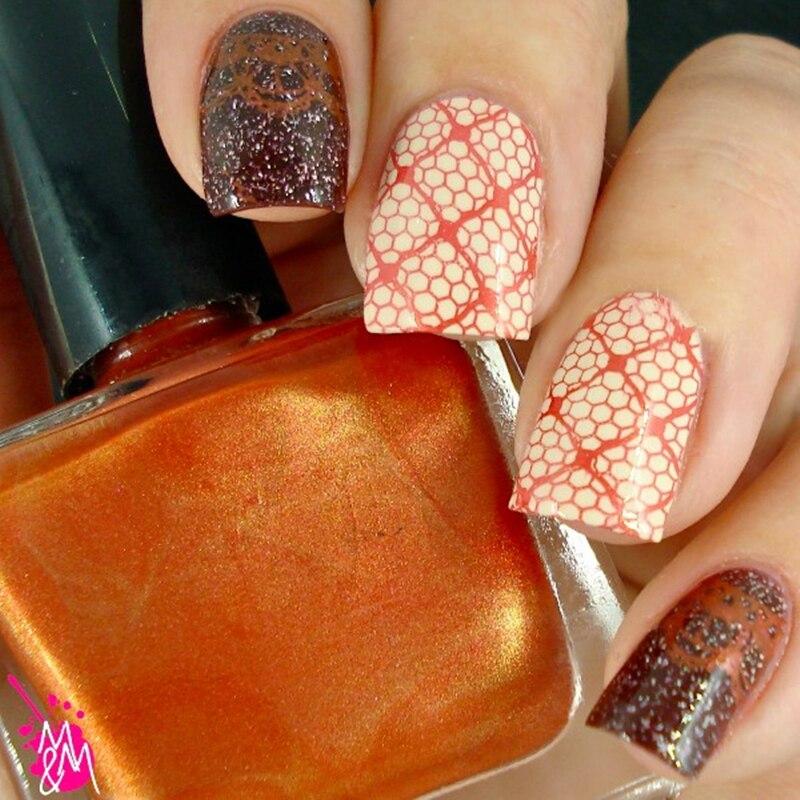15ml Shimmer Born Pretty Nail Art Stamping Polish Coffee Brown Color Stamping nail Polish Nail Varnish 29#