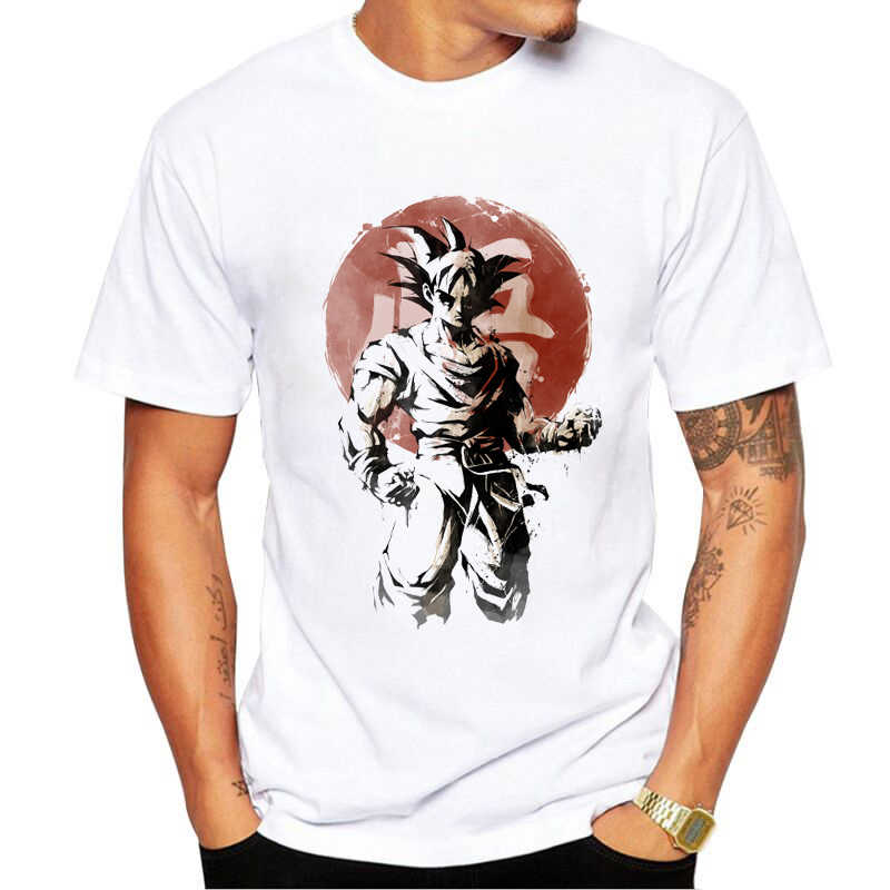 04453fe1f Fashion Anime Son Goku T Shirt Dragon Ball Z Comics T-shirt Young  Characters Tshirt