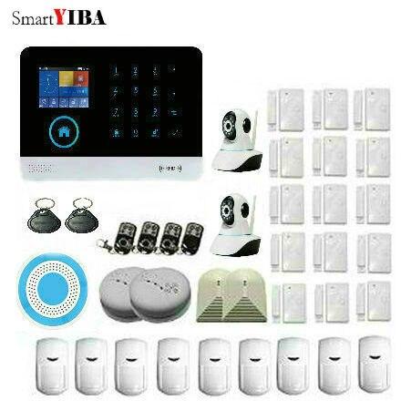 SmartYIBA беспроводная домашняя охранная Камера Безопасности система wifi GSM SMS IOS/Android приложения контроль дыма/стекла