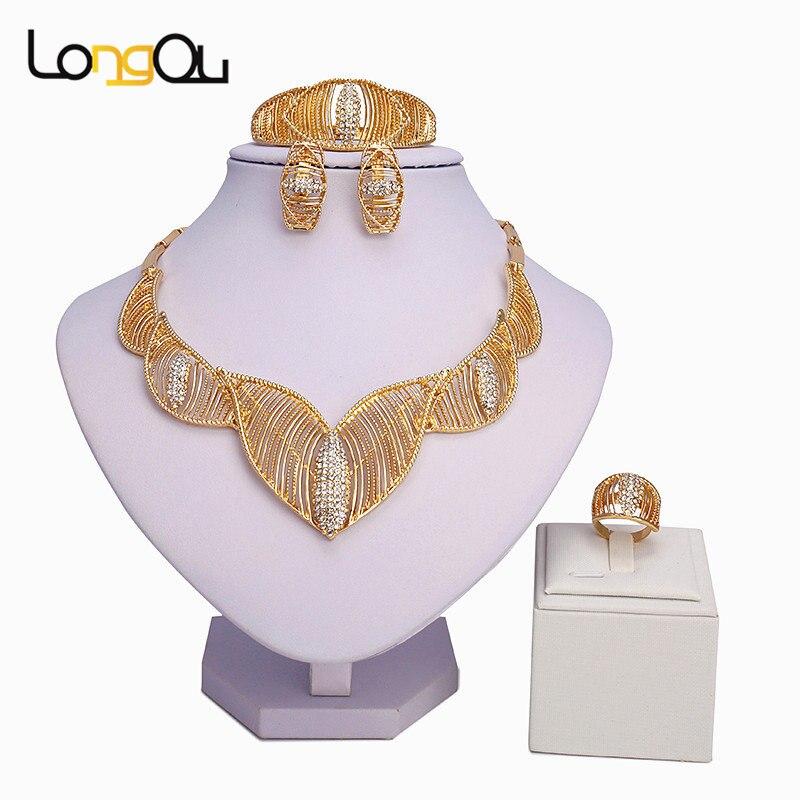 Jewelry Set Exquisite Gold...
