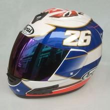 Free Shipping #26 Dani Pedrosa Men MOTO GP Blue Motorcycle Helmet capacete de moto helmets road motobike helmet casque moto