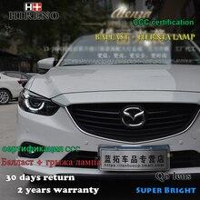 Hireno Asamblea Faro para 2013-2015 Mazda 6 Mazda6 Faros LED DRL Angel Lente Doble Haz HID Xenon 2 unids