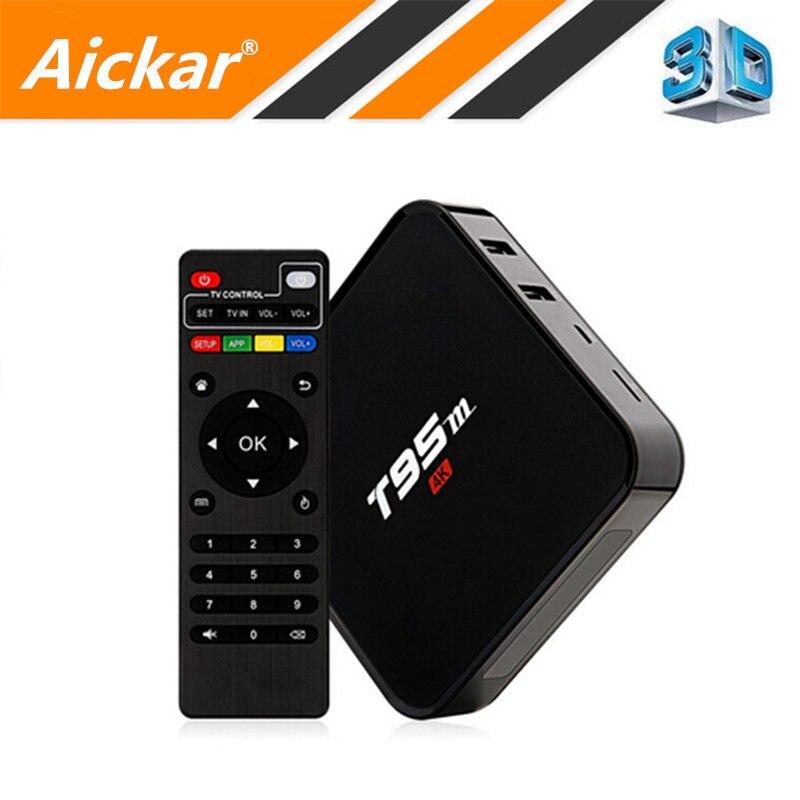 Prix pour T95M TV Box Android 5.1 Amlogic S905 Quad Core Cortex-A53 2G/8G 2.4 GHz KODI 16.0 H.265 IPTV HDMI 2.0 Smart TV Box Media lecteur