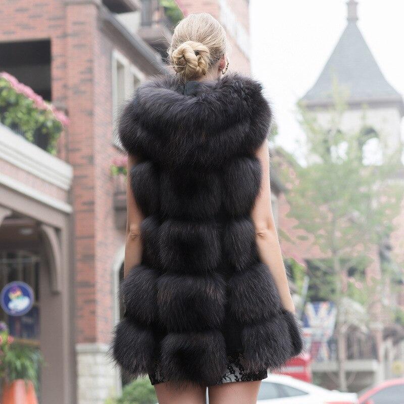 Streetwear Manteau Coréenne Nouveau Épais Gilet Naturel Veste Marque Laveur Femme 2018 Raton De Style Luxe Fourrure D'hiver Véritable Noir Chien Chaud XZcBw