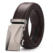Ремень мужской кожаный деловой с автоматической пряжкой 35 см