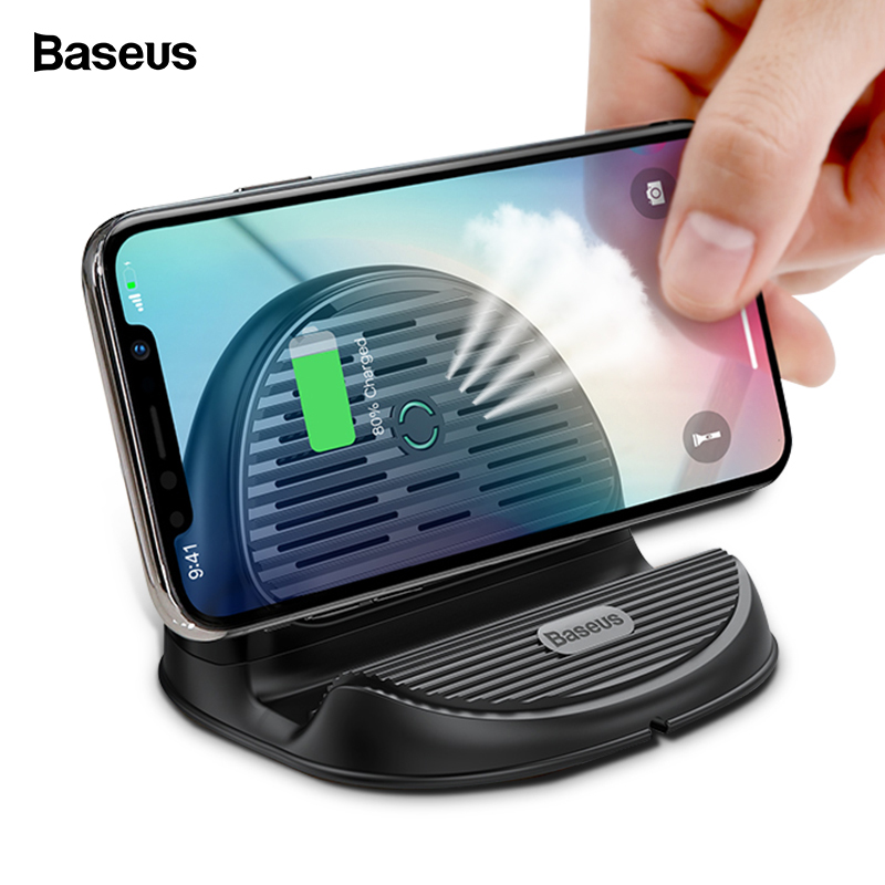 Chargeur sans fil Qi Baseus 10 W pour iPhone Xs Max Xr X 8 Station de chargement sans fil sans fil pour Samsung S9 S8 Xiaomi Mix 3 2 sChargeur sans fil Qi Baseus 10 W pour iPhone Xs Max Xr X 8 Station de chargement sans fil sans fil pour Samsung S9 S8 Xiaomi Mix 3 2 s