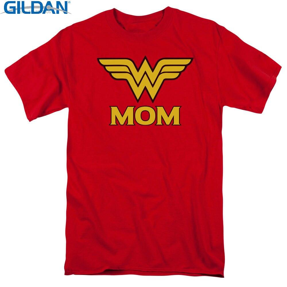 100% Cotton Tee Shirt For 2017 Summer  Crew Neck Men Novelty Short Wonder Mom Tees