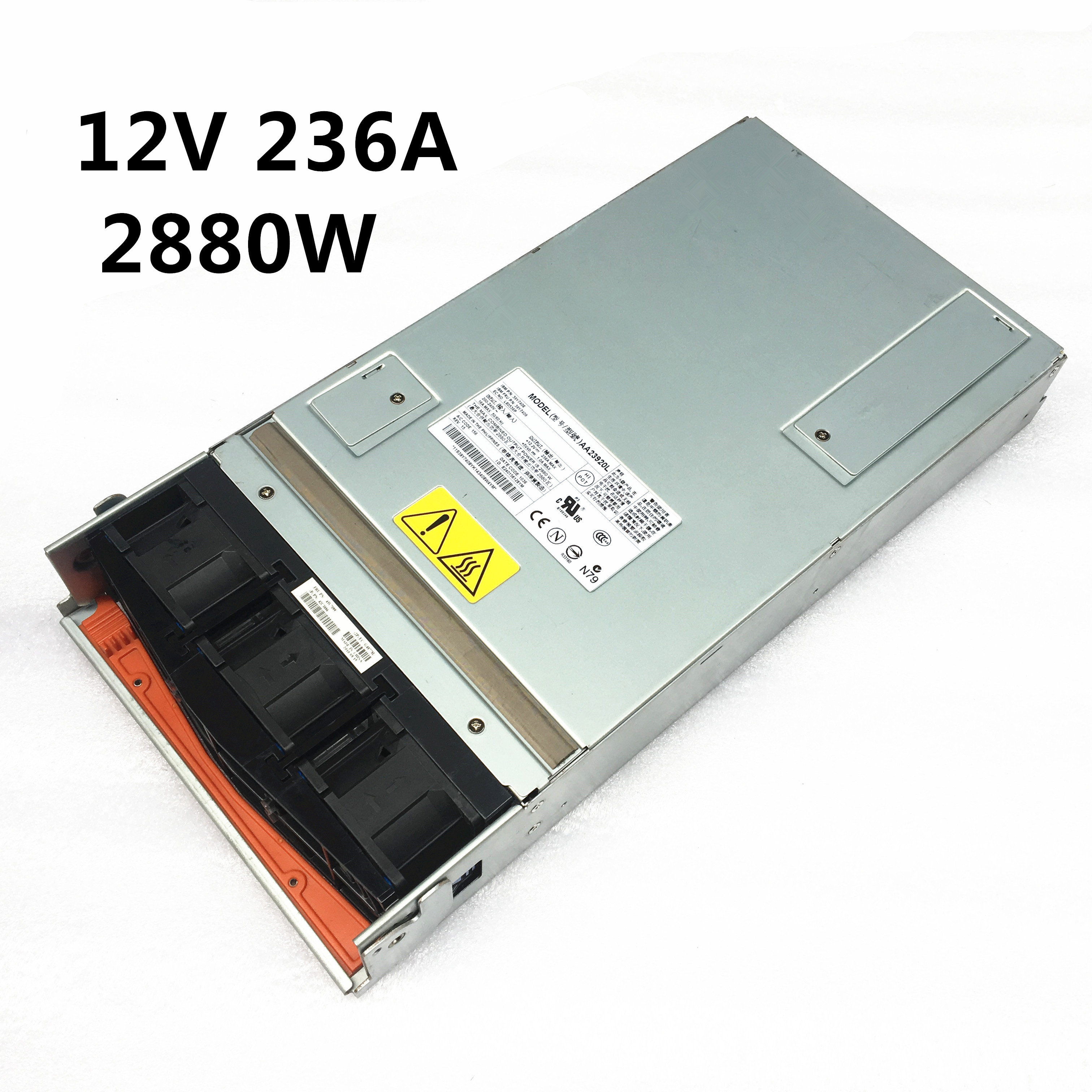 12V high Server power AA23920L 39Y7364 39Y7350 39Y7349 12V 236A 2880W Switching power supply 100 Strict