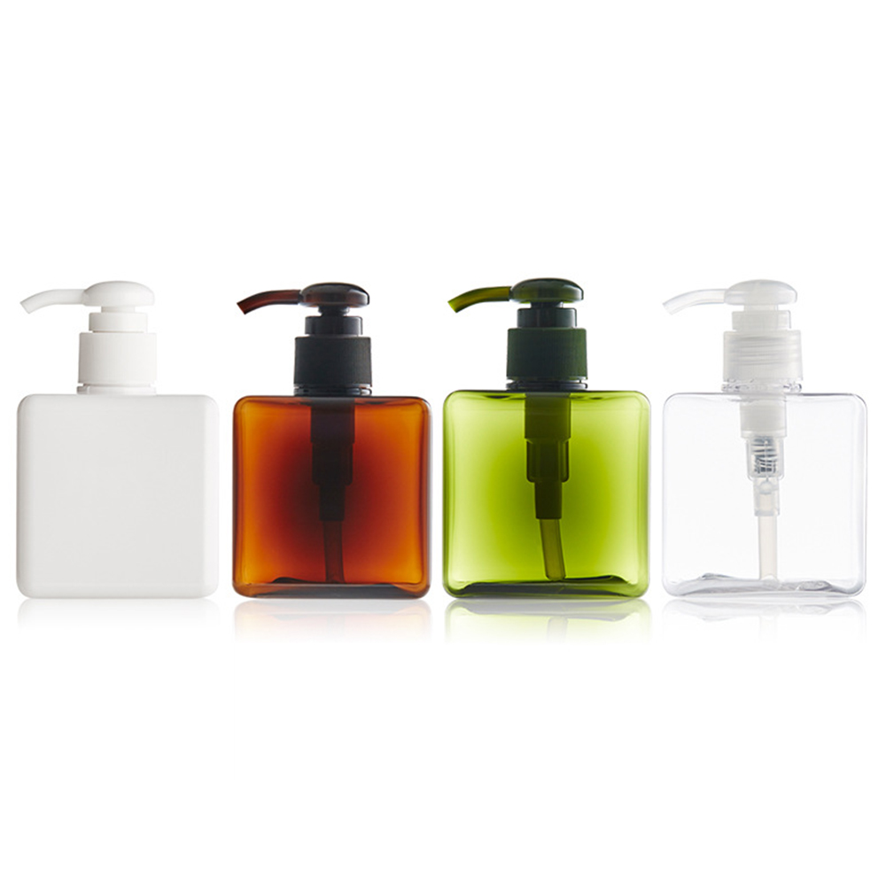 Refillable Bottles 250ml with Pump Shampoo Lotion Containers Plastic Refillable Bottles Travel Bottle Set Small Empty Bottle clear pet packaging bottles with lotion cream pump refillable empty cosmetic containers 1000ml pet shampoo shower gel bottle
