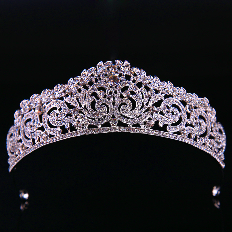Gorgeous Silver Large Diamante Wedding Pageant Crowns ...