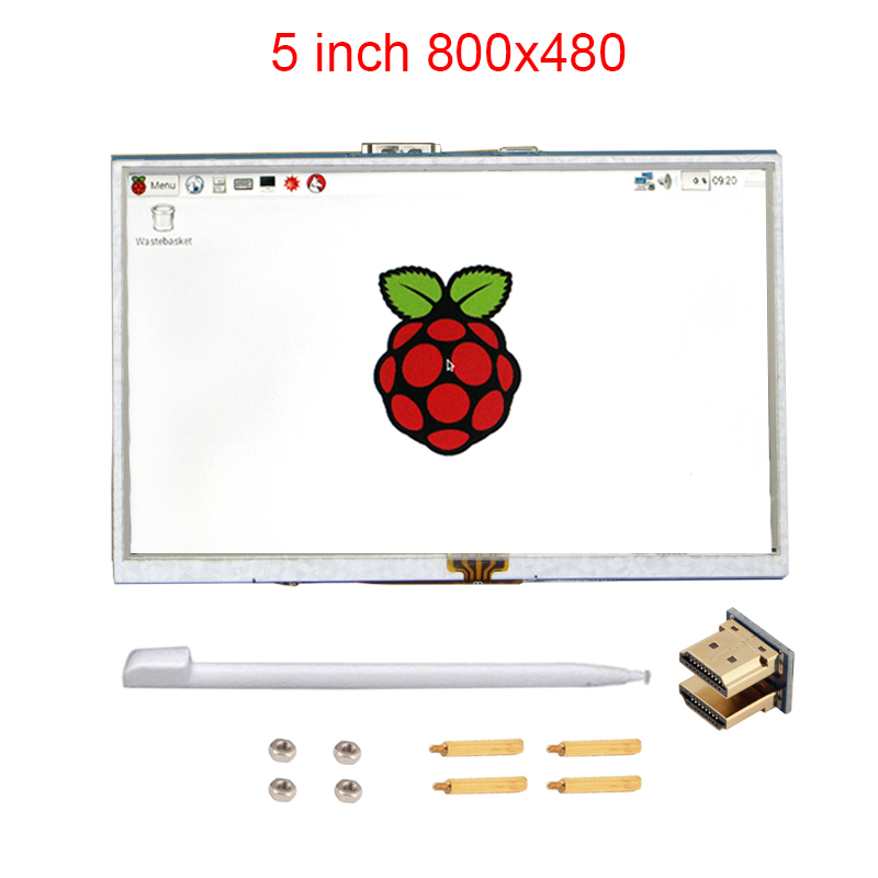 Raspberry Pi 3 Model B 5 inch LCD Touchscreen TFT HDMI 800x480 RPI Display Module Touch Screen Compatible Raspberry Pi 2 +Stylus 4 inch hdmi lcd ips screen 800 480 pixel for raspberry pi model b b raspberry pi 2 model b