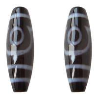 YYW натуральный Тибетский дзи камень агат бусины для женщин и мужчин ювелирные изделия овальные двухглазые двухцветные ААА 12x38 мм счастливые...