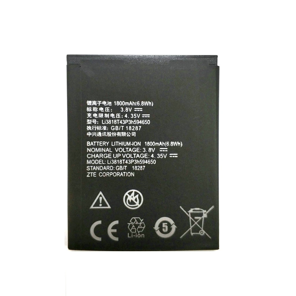 2019 New Li3716T42P3h594650 3.7V 1800mAh <font><b>Battery</b></font> for <font><b>ZTE</b></font> N970 U795 U930 U970 V807 V889M V889S V930 <font><b>V970</b></font> mobile phone image