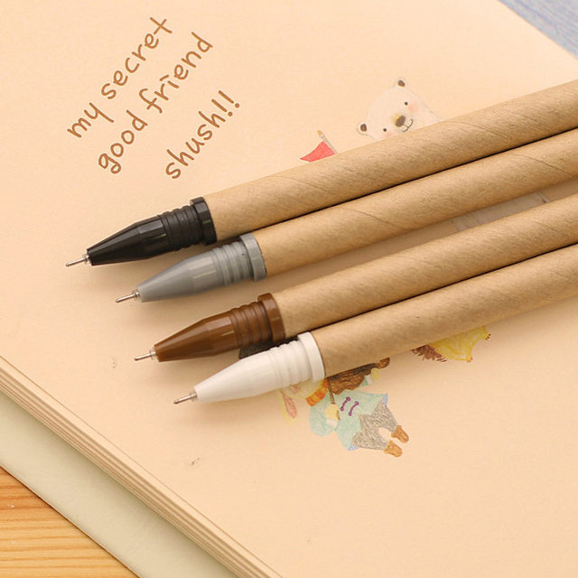 Anese Stationery With A Simple And Environmentally Friendly Brown Paper Pen Office Student Supplies