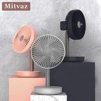 2019 New Mitvaz Desk fan usb rechargeable fan electrical fan standing fan 3 Speed Adjustable 4000mah power bank