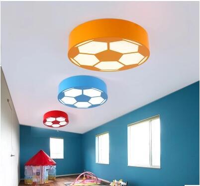Farbe Fußball Kinderzimmer Led Deckenleuchte Cartoon Schlafzimmer Lampe  Runde Warm Kindergarten Spielplatz TA9153