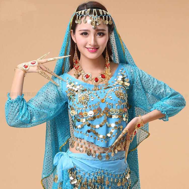 Discount Performance Long Sleeve Belly Dance Costumes Fashion Indian Dance Clothing Trumpet Sleeve Dance Clothes Belly Dance Top Shirt 16 Special Use Toys Box 43