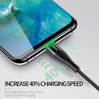 cable samsung galaxy ROCK 3A LED USB Type C Cable for xiaomi Samsung USB-C Mobile Phone Fast Charging Type-C Cable for Oneplus Galaxy S9 S8 Note 9 8 (4)