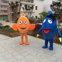 Рыба клоун Маскоты взрослый костюм Горячая персонажа из мультфильма от найти Немо аниме Маскоты карнавальные костюмы нарядное платье для ш
