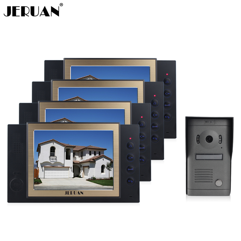 JERUAN 8 inch video door phone doorbell intercom system with video recording photo taking doorphone hands-free speaker intercom jeruan 8 inch video door phone high definition mini camera metal panel with video recording and photo storage function