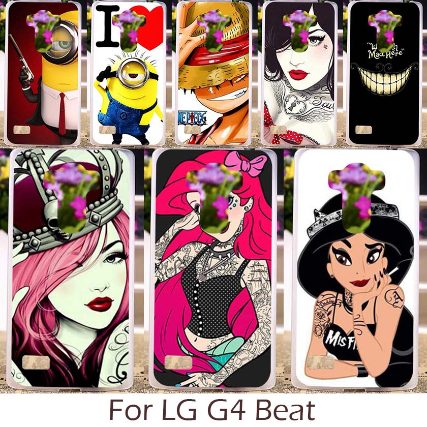 Akabeila Hard Plastic Silicon Soft TPU Case For LG Optimus G4S G4 Beat H735 H736 H731 Phone Cover Cartoon Characters