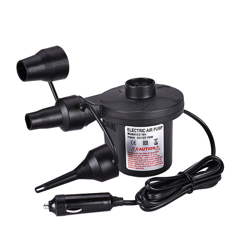 Quality Electric Portable Mini Air Pump For Inflatables Air Mattress Raft Bed Boat Pool Toy 1 Air Pump With 3 Nozzles VC