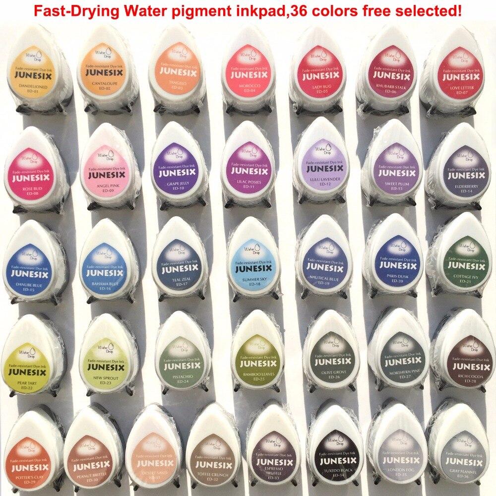 2019 nowa jakość 36 kolorów Tear Drop odcisk atramentowy pieczęć wystrój domu bez kwasu drukarek atramentowych scrapbooking w Pieczątki od Dom i ogród na AliExpress - 11.11_Double 11Singles' Day 1