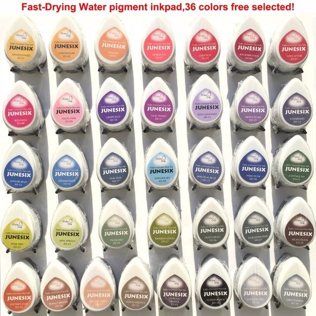 Almohadillas de tinta para decoración del hogar, cojín para sello, sin ácidos, 36 colores