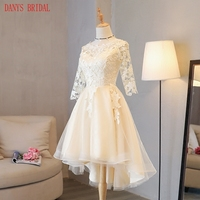 Short Lace Homecoming Dresses Long Sleeve 8th Grade Graduation Dresses Party Short Prom Dresses Tulle Vestido