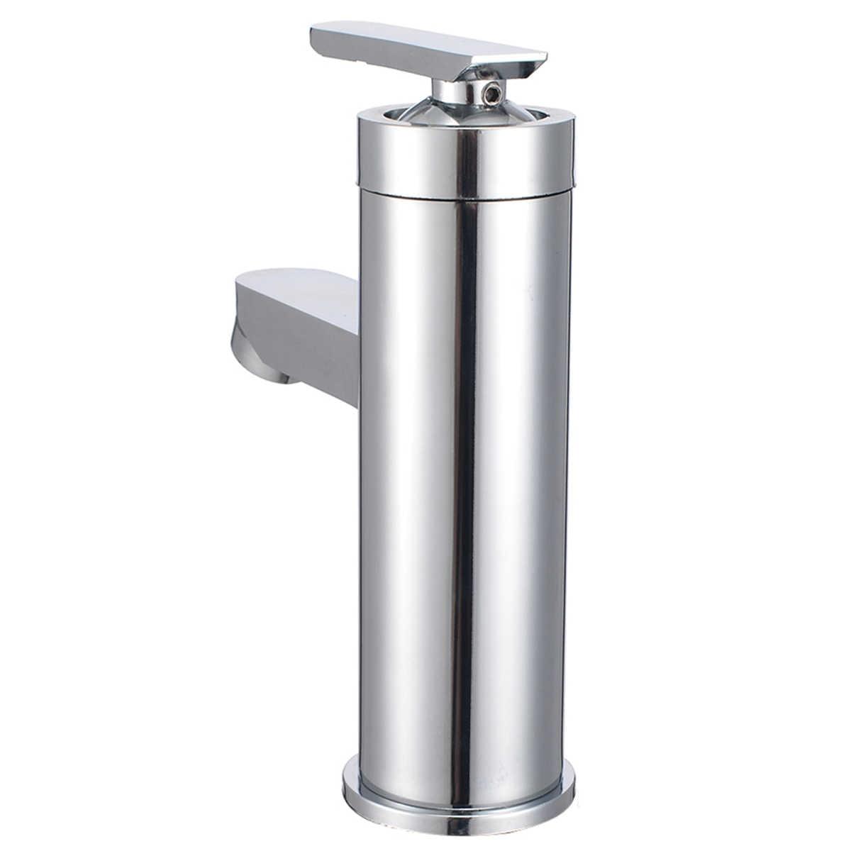 Mayitr 滝の浴室の蛇口流域のシンクの蛇口シングルハンドルのミキサータップコールドホット水キッチン浴室用品