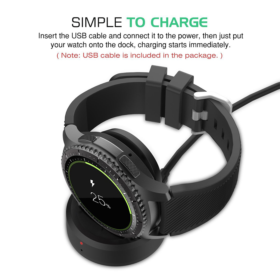 Wireless Chargers Smartwatch Charging Classic Frontier Watch High Quality Chargers Smart Watch Charging Dock For Samsung Gear S3 kinco black smart watches chargers high quality usb charging cradle dock charger for samsung gear fit 2 smart watch sm r360