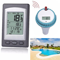 1* Wireless Remote Floating Thermometer For Swimming Pool Water SPA Temperature~