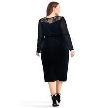 Women's High Waisted Velvet Plus Size Pencil Skirt