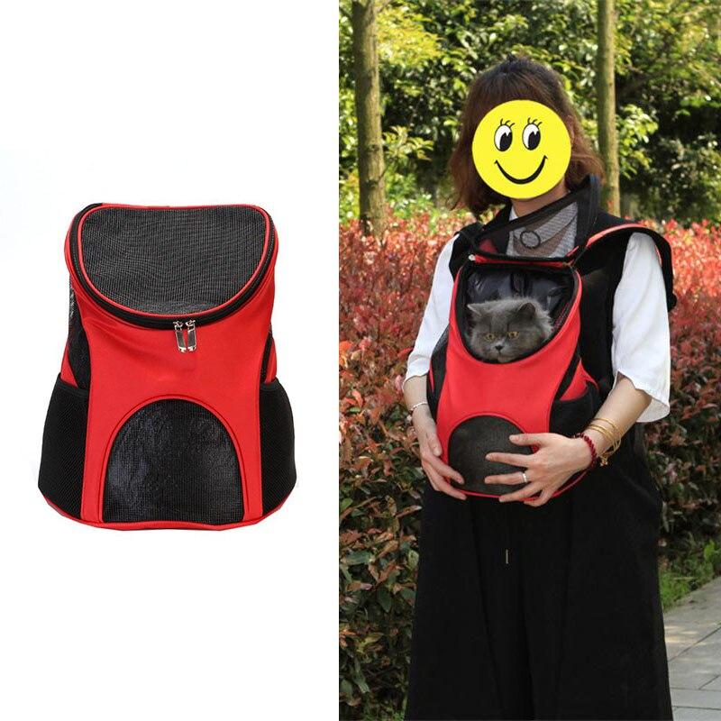 Breathable Dog Backpack Portable Pet Carrier Cat Puppy Shoulders Back Front Pack Travel Bag Adjustable Shoulder Strap