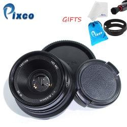Pixco 25mm F1.8 HD. MC obiektyw do Sony Nex kamery mikro cztery trzecie M4/3 kamery + szmatka do czyszczenia obiektywu + długopis + osłona obiektywu + płócienna torba