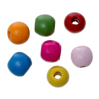 Maple Wood Garment Beads Drum At Random About 9mm x 7mm,Hole about 3.2mm,500 PCs