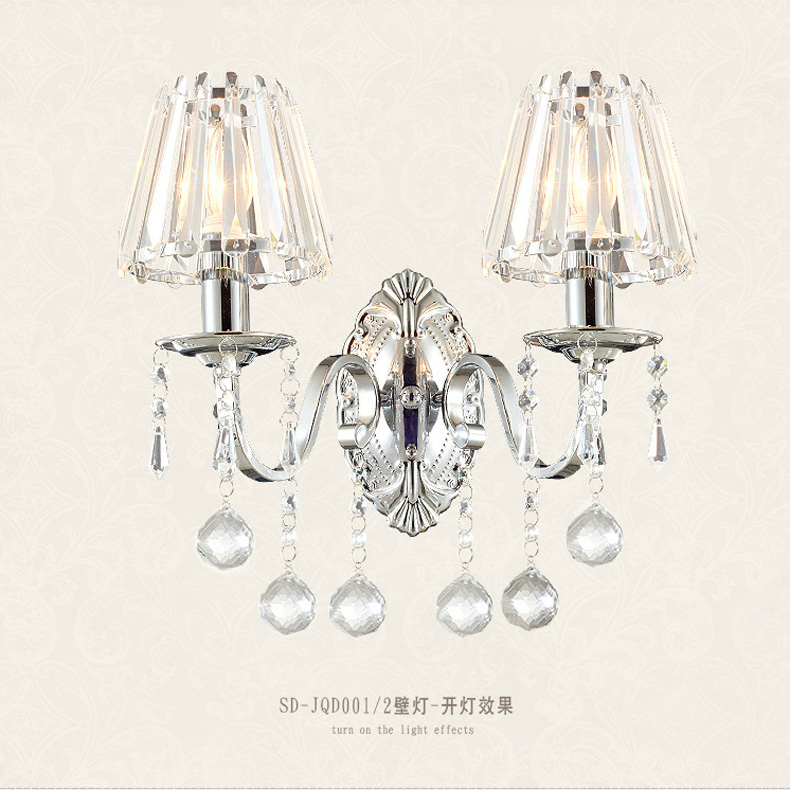 creative wall lamp European crystal wall lamp LED bedroom bedside lamp hotel wall lamp luxury living room staircase candle wall все цены
