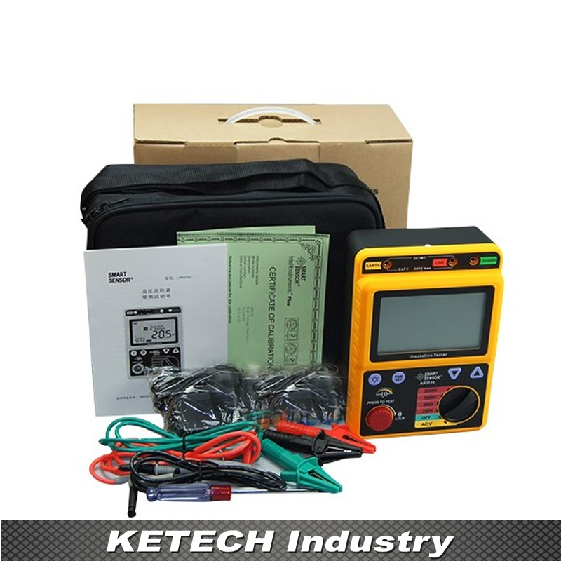 AR907 Voltage Insulation Meter 1000V Digital Insulation Resistance Tester Digital Megger цена
