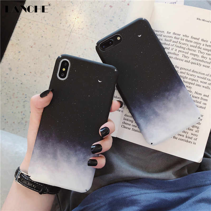 LANCHE Night sky Phone Case For Huawei P20 P30 Lite Mate 20 Pro Case Hard PC Phone Cover Case On Honor 10 8X V10 V20 Nova 2s 3i