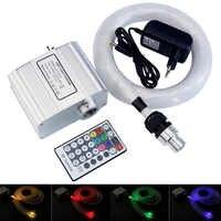 10W RGBW scintillent LED Fibre optique étoile plafonniers Kit 0.75mm * 200 pièces * 2M Fiber optique et 28Key RF contrôle plafonnier étoilé