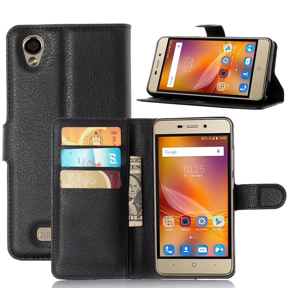 Buy luxury fundas for zte blade x3 d2 phone case stand magnetic wallet - Fundas zte ...