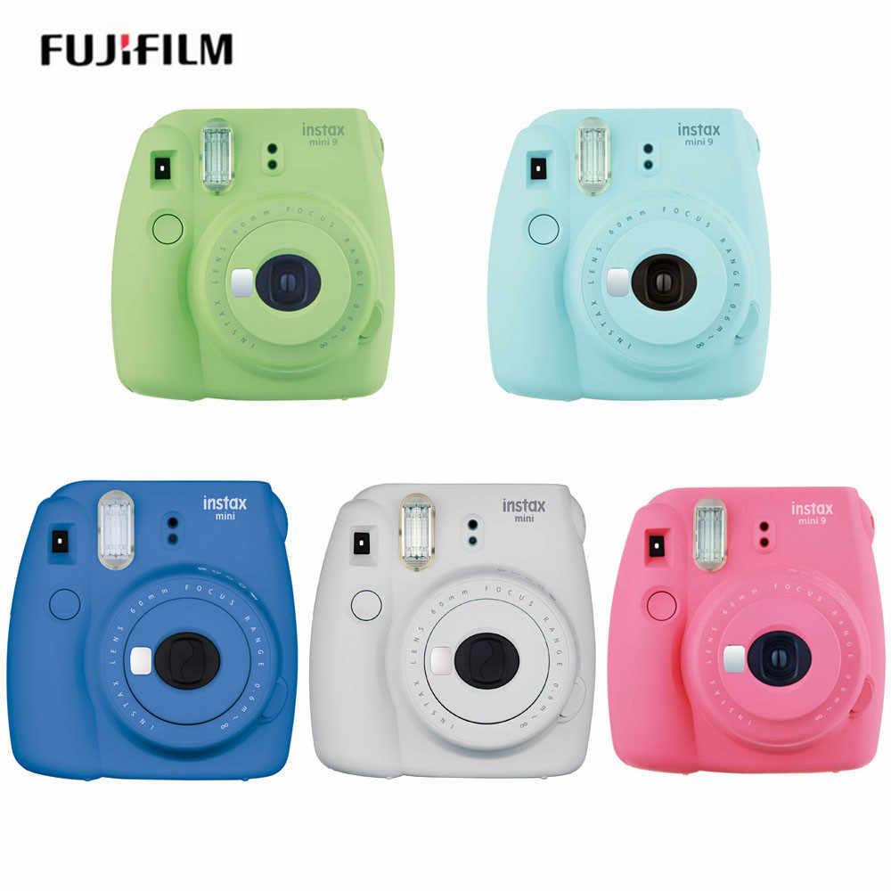 كاميرا تصوير جديدة أصلية من Fujifilm موديل Instax Mini 9 مكونة من 5 ألوان + 100 ورقة 3 بوصات باللون الأبيض فوجي + عدسات مقربة