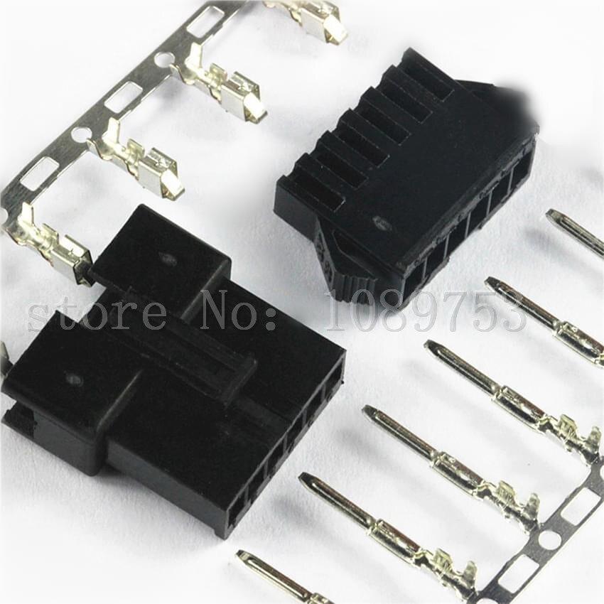 все цены на JST 2.5mm SM 6-Pin Battery Connector Plug Male and Female x 50 sets онлайн