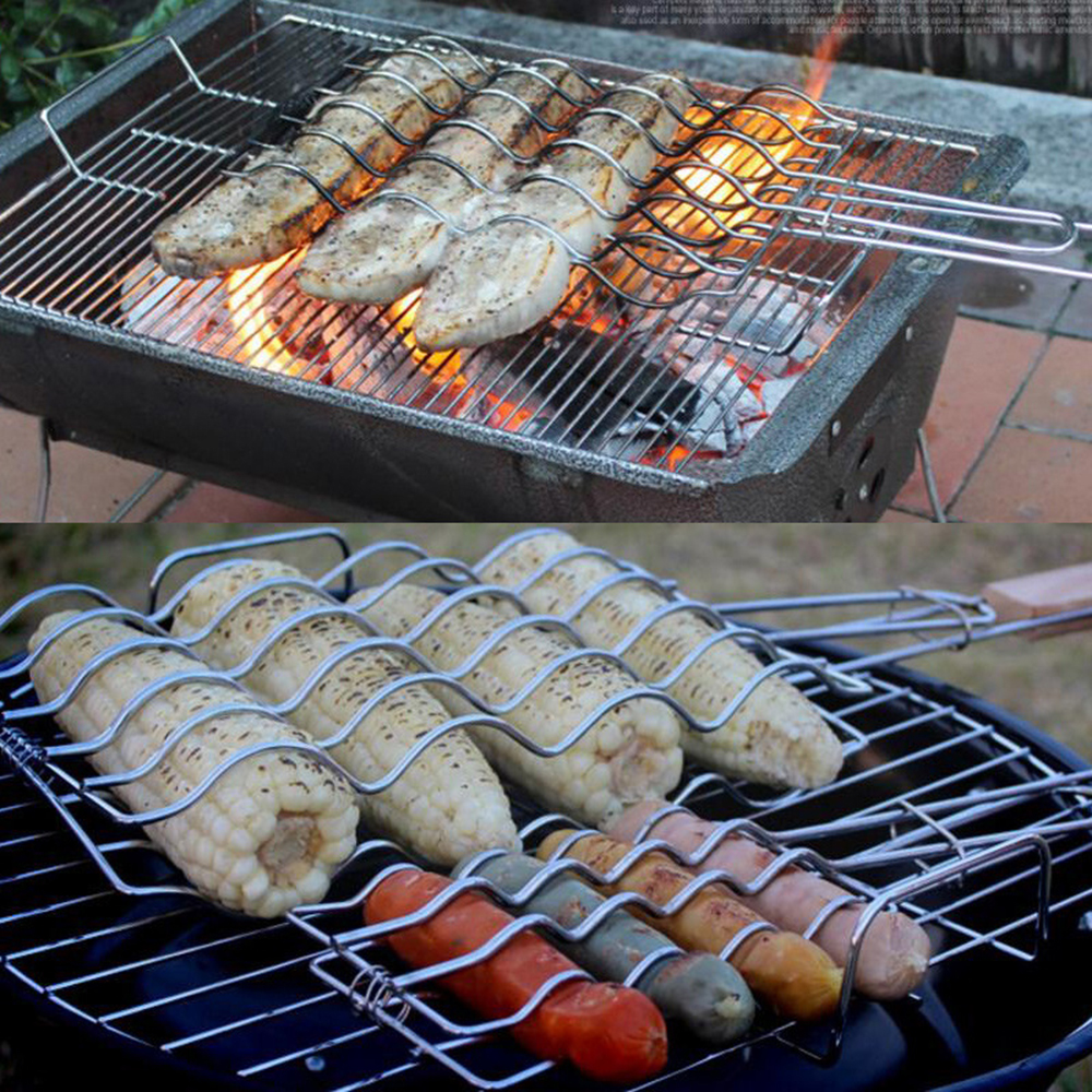 Creative Outdoor Barbecue Accessories Grilled Fish Clips Barbecue Toasted Bread Grilled Sausages